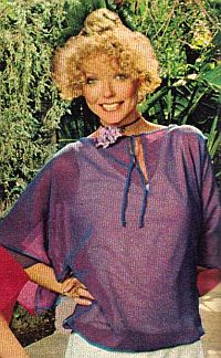 Woman in purple top 1977