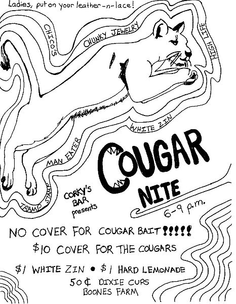 cougar night corky's blog
