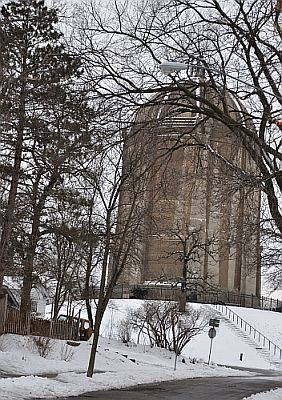 Washburn park water tower in South Minneapolis.