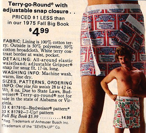 Mens' Terry-go-Round from Sears catalog from 1976.