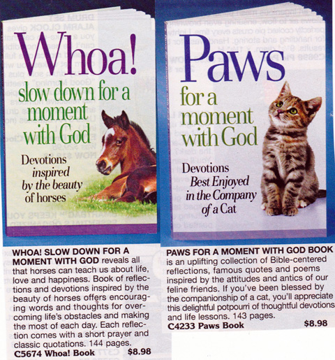 Whoa! Slow Down For a Moment with God and Paws for a moment with God books.