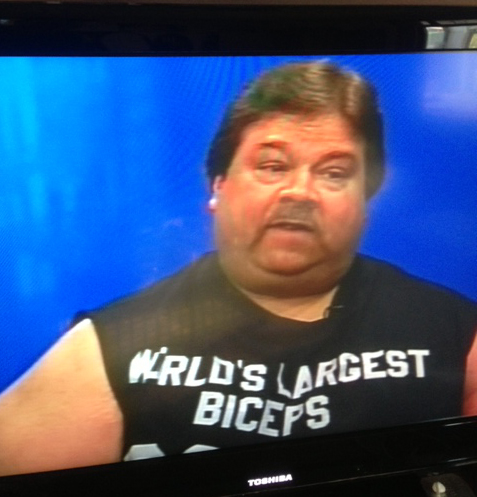 worlds largest biceps guy on TV