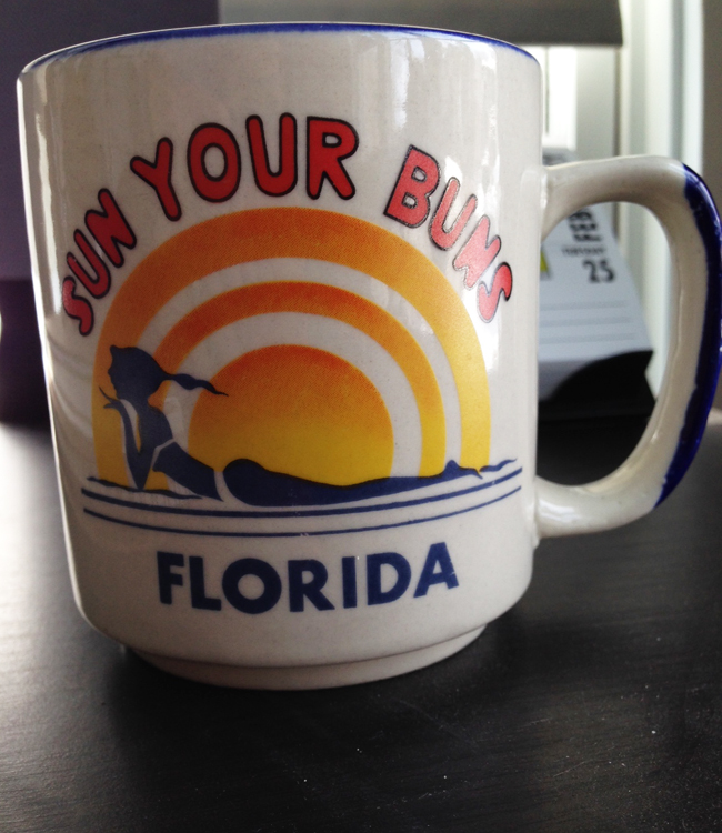 sun your buns coffee mug